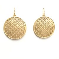 Charmer Laser Cut Earrings In Gold