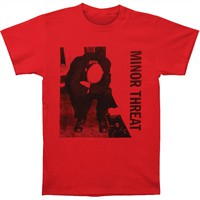 Minor Threat Men's  LP T-shirt Red Rockabilia