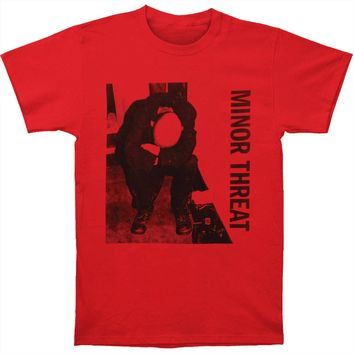 Minor Threat Men's  LP T-shirt Red