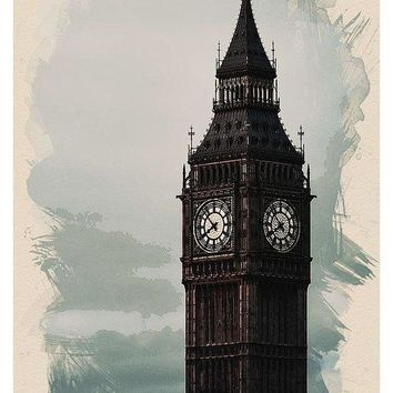 Wonders Of The Worlds - Big Ben Tower Of London - Art Print