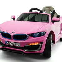 Cool Racer 12V Electric Kids Ride-On Car with R/C Parental Remote | Pink