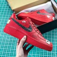 NIKE AIR FORCE 1 07 LOW Fashion Women Men Running Sports Shoes Sneakers Red Best Goods