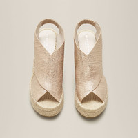 ONA METALLIC ESPADRILLE WEDGE