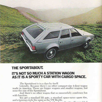 Wall Decor 1971 Sportabout Car Advertisement American Motors Advertisement Station Wagon Car Ad Mancave Decor Hipster Gift