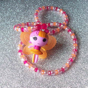 Lalaloopsy Fairy Doll Stretch Necklace with Transparent and Iridescent Beads