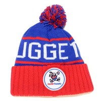 "Denver Nuggets Mitchell & Ness NBA ""The High 5"" Vintage Cuffed Knit Hat w/ Pom"