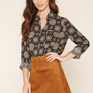 Ornate Paisley Collared Blouse