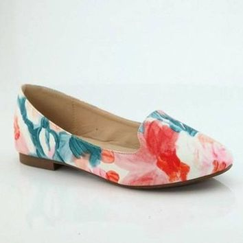 The Amanda Watercolor Floral Flats FINAL SALE!