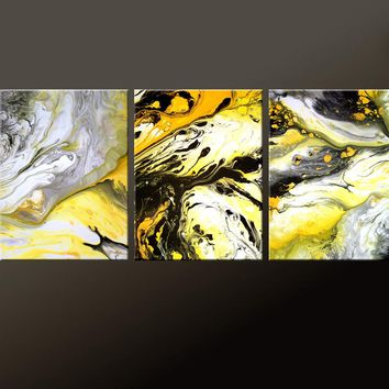 3pc Set of Abstract Contemporary Modern Giclee Prints by Destiny Womack - dWo - Symphony of Light