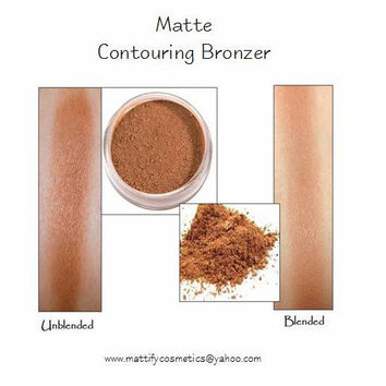 Contouring Bronzer & Highlighter for Strobing ~ Long Lasting Makeup by Mattify Cosmetics