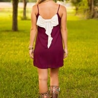 Bow, Fight, Win Dress-Maroon - NEW ARRIVALS