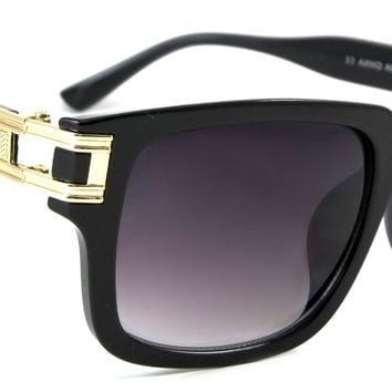 Retro Classic Sunglasses Marley Exclusive Fashion Square Frame Smoke Lens