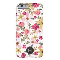 Pink Watercolor Floral Barely There iPhone 6 Case