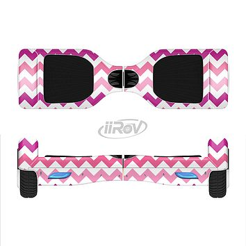 The Subtle Pinks and White Chevron Pattern Full-Body Skin Set for the Smart Drifting SuperCharged iiRov HoverBoard