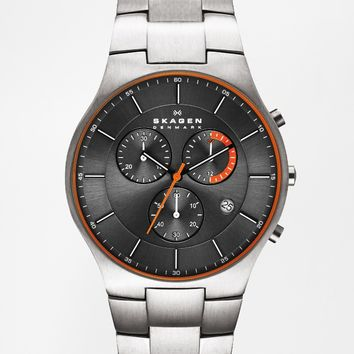 Skagen Chronograph Stainless Strap Watch
