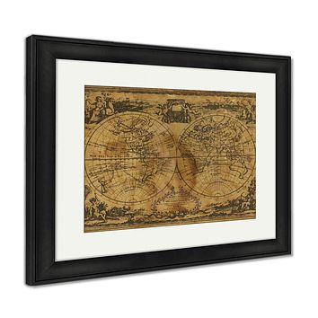 Framed Print, World Map