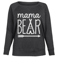 Heather Charcoal 'Mama Bear' Slouchy Pullover - Plus