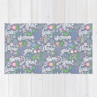 How Does Your Garden Grow Rug by Noonday Design   Society6