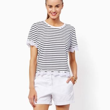 Coraline Striped Tee Striped Tee | Fashion Apparel and Clothing - Modern Americana | charming charlie