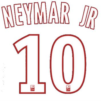 Neymar Jr PSG name and number Print