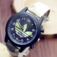 Stylish Awesome New Arrival Designer's Gift Good Price Trendy Great Deal Ladies Camouflage Couple Simple Design Casual Watch [11912228691]