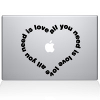 All You Need Is Love Heart Macbook Decal | The Decal Guru