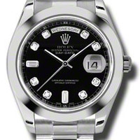 Rolex Day-Date II Mens Automatic Watch 218206BKDP