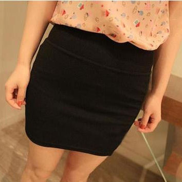 2016 New Fashion Women Casual Empire Packet Buttock Short Skirts Sexy Lady Candy Color Solid Mini-Skirt Free Shipping D008