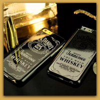 Daniels Whiskey Hard Silver or Black Chrome Mirror iPhone Case