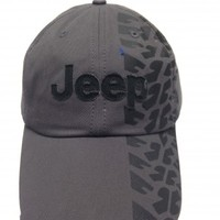 Jeep Charcoal Hat w/Weathered Tire Track Design | Hats & Caps | Jeep Apparel | My Jeep Accessories