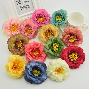 Silk peony European style quality for garden home Wedding party car decora Bride bouquet diy Stamens cheap Artificial flowers
