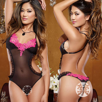 Hot Deal Cute On Sale Sexy See Through Underwear Backless Hollow Out Exotic Lingerie [6595874883]