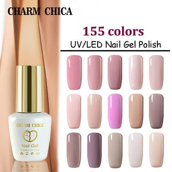 CHARM CHICA Gel Nail Polish UV 6ml Nude Pink Soak Off Gel Polish Gel Lacquer Nail Art Vernis Semi Permanent CC06
