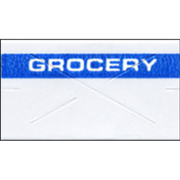 Garvey Preprinted Gx2212 White/Blue Grocery Labels For A 22-6, 22-7