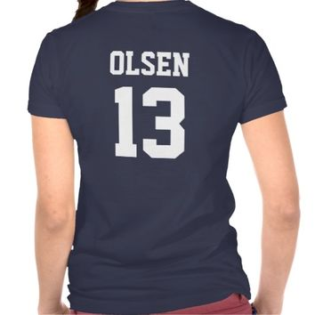 Navy and White School Spirit Personalized Team T-shirts