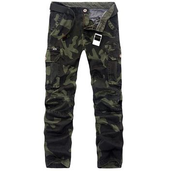 2017 Hot Sale Mens Camouflage Pants Casual Outwear Military Work Trousers Brand Men Army Cargo Pants Men Joggers Plus Size