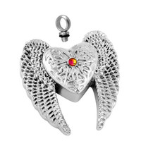 "Cremation ""Winged Heart"" Urn Necklace"