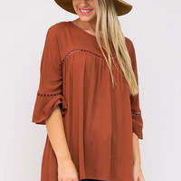 Sienna Sunset Bell Sleeve Blouse
