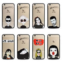 Funny Words Cool Woman Man Girl Couple Print Case Funda Coque For iphone 5 5s SE 6 6S plus 7 7plus phone case