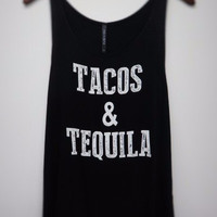 Tacos & Tequila Tank - Black