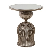 Hourlgass Metal Round Side Table