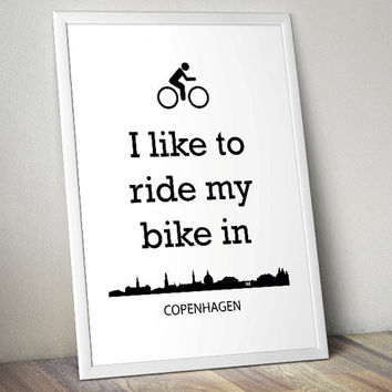 Biking in Copenhagen - lifestyle - Printable Poster - Digital Art - Download and Print