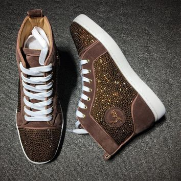 Christian Louboutin CL Rythinestone Style #1922 Sneakers Fashion Shoes Best Deal Online
