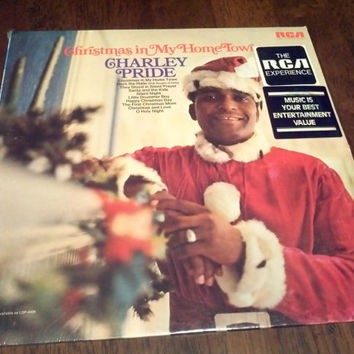 Vintage 1970 Factory Sealed Charlie Pride Christmas Vinyl Record Album Unopened Home Town Deck the Halls Santa Silent Night Holy Night