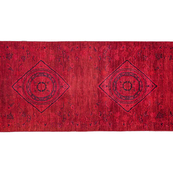 "7'10""x3'1"" Handmade Vibrance Rug, Red, Area Rugs"