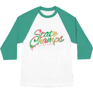State Champs Men's  Tropical Baseball Jersey White