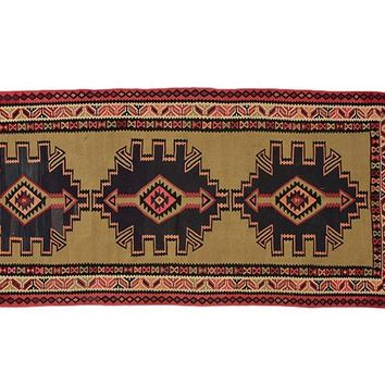 "Turkish Kilim 4' 11"" X 10' 2"" Handmade Rug"