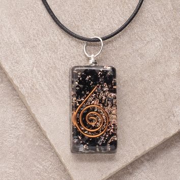 Black Tourmaline Orgone Pendant Necklace