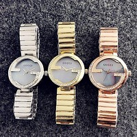 Gucci Trending Women Men Diamond Quartz Movement Wristwatch Couple Watch I