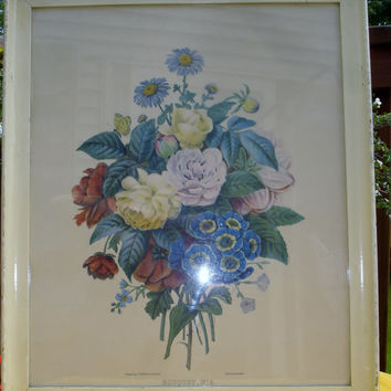 Floral picture by J. P. Redoute, named Imprime par Lemercier Bouquet no 4